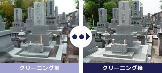 お墓・墓石のクリーニング