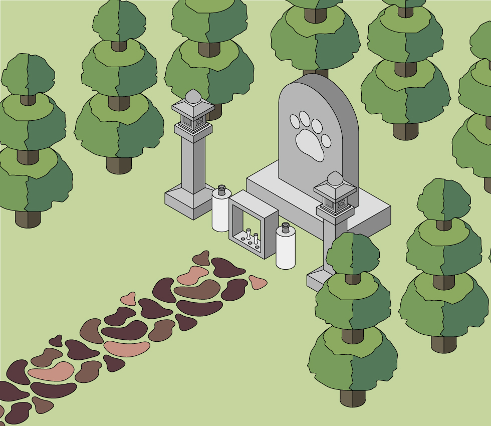 ペットの墓の建て方 庭などに建てる