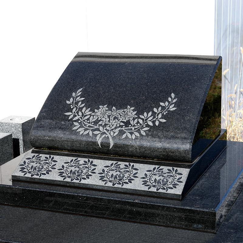 萩石材 デザイン墓石